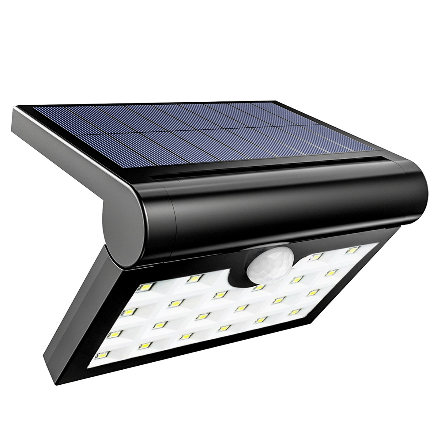 HSicily Solar Lights Outdoor Waterproof Wall Lights Wireless Motion Activated Auto On/Off Security Night Lights for Garden Patio Yard Deck Garage Driveway Porch Fence, 1 Pack