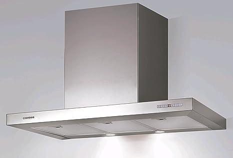 Nodor LICEO 900 - Campana (Canalizado, 790 m³/h, 49 Db, Montado en pared, LED, Acero inoxidable): 198.04: Amazon.es: Grandes electrodomésticos