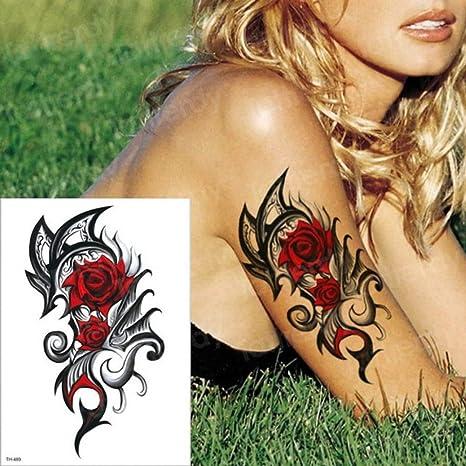 Handaxian 3pcs-Temporal Tatuaje Pirata Tatuaje Ancla brújula ...