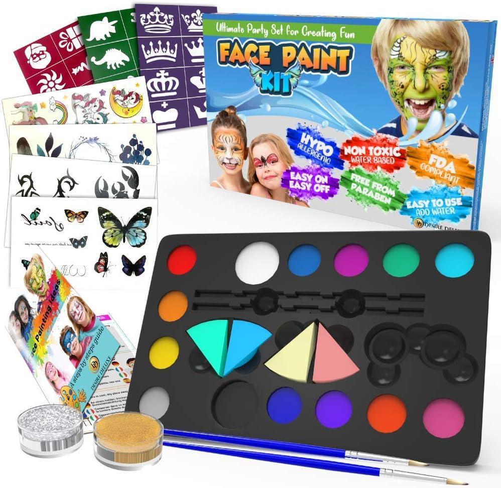 Kit de pinturas para cara y cuerpo Desire Deluxe por 11,99€ ¡¡20% de descuento!!