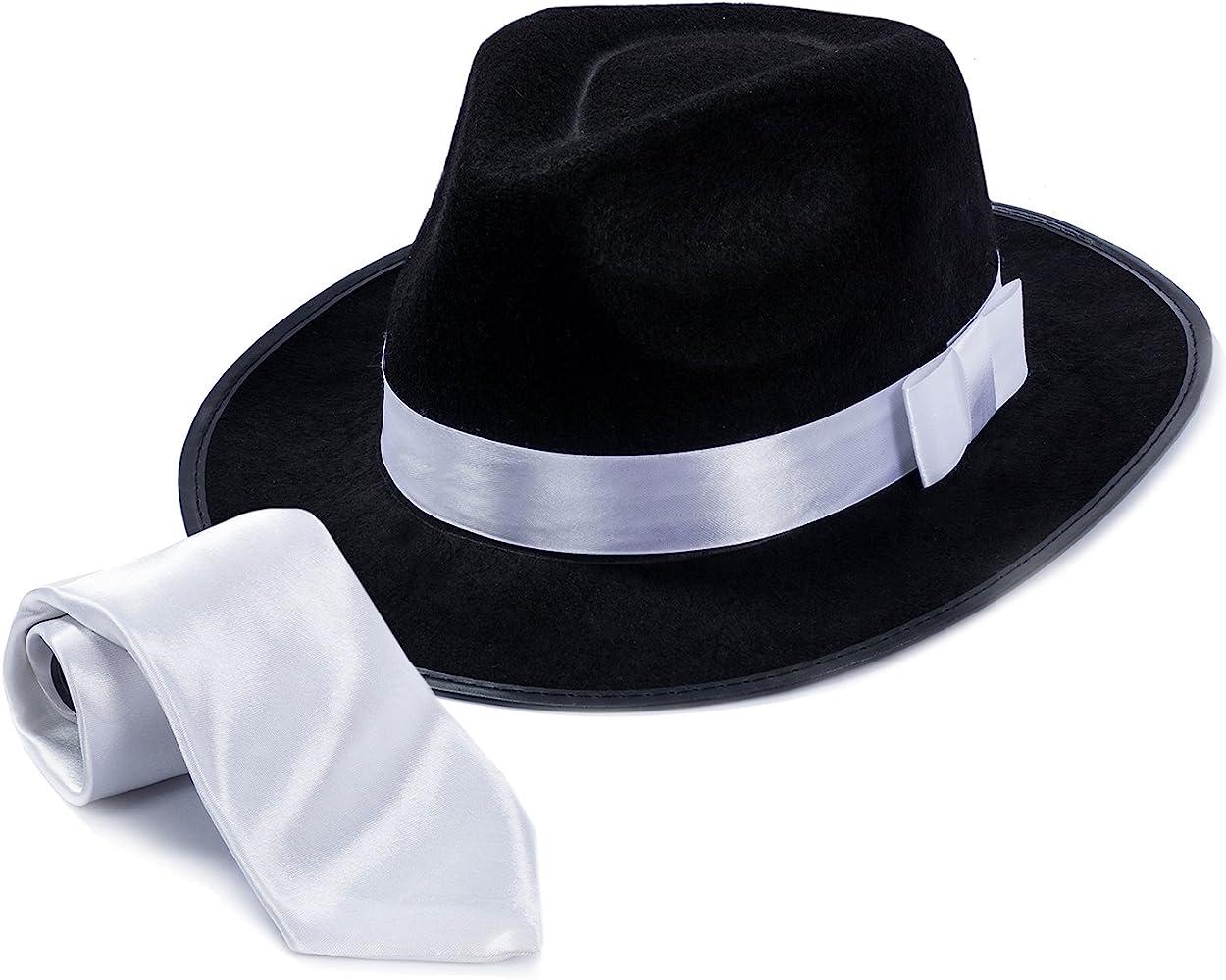 Tigerdoe Sombrero de Fedora - Fedora Gangster sombrero con lazo ...