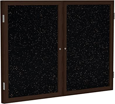 Frame Finish Satin 2 Door Outdoor Enclosed Bulletin Board Size Spruce Surface Color 3 H x 4 W