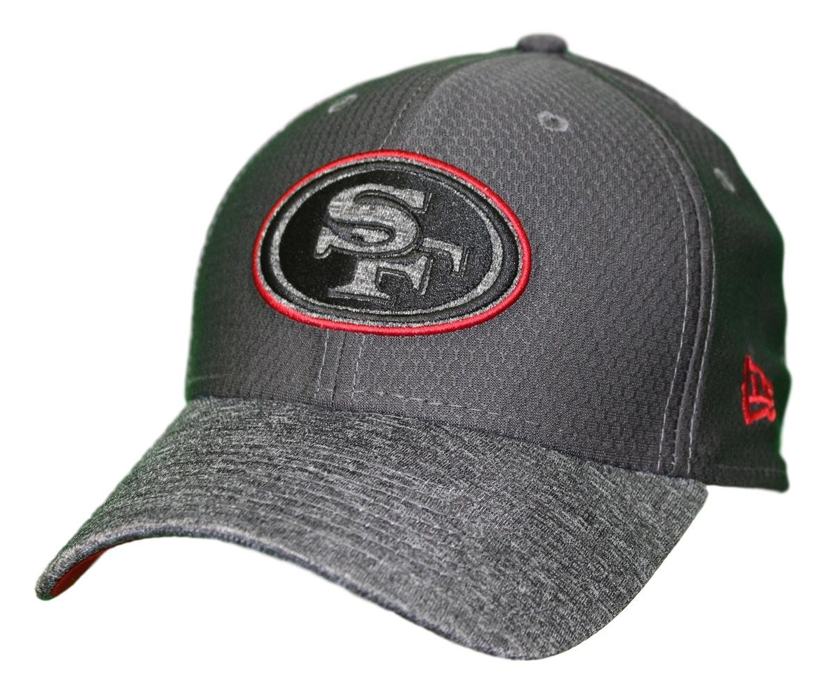quite nice 4e423 c0762 ... usa amazon new era san francisco 49ers nfl 39thirty popped shadow flex  fit hat graphite sports
