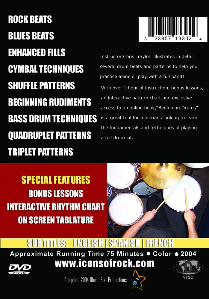 Amazon com: Beginning Drums - Essential Grooves, Beats
