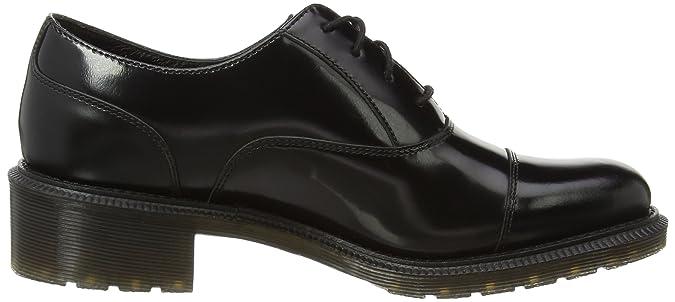 Henrietta Pol. Smooth, Chaussures Oxford Femmes - Noir - Noir, Taille 43 EUDr. Martens