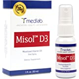 Vitamin D3 Spray (5000 IU) Misol D3 - Patent Pending (MICELLIZATION) - in your blood stream in MINUTES! - 90 Day + Supply. Simple spray daily - 100% Satisfaction Guarantee