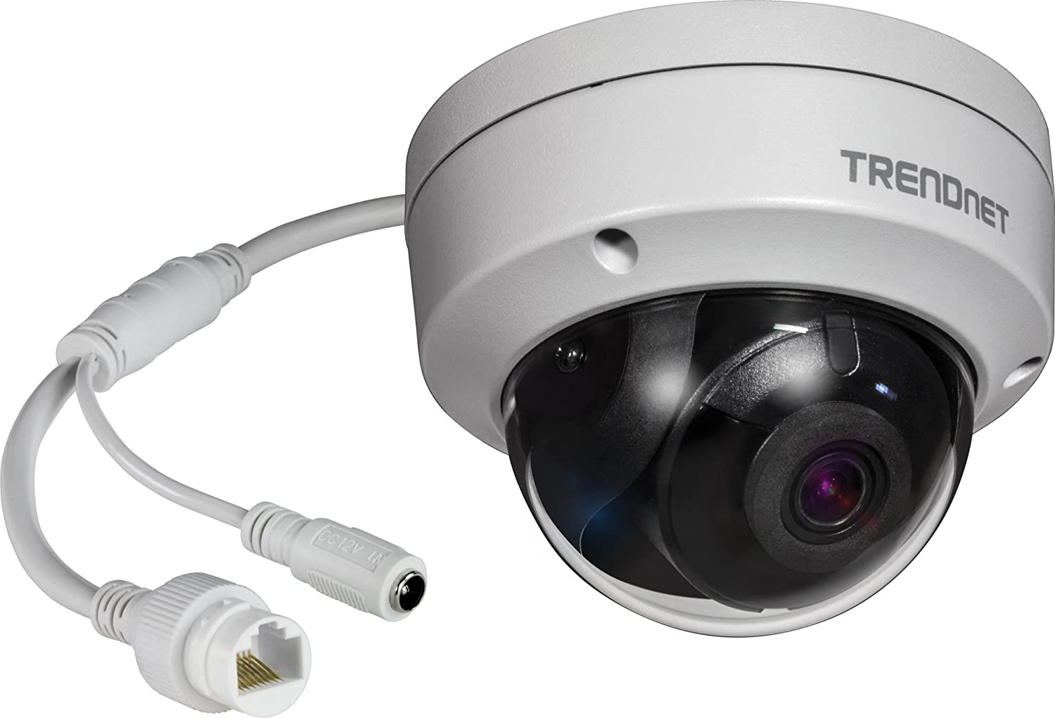 TRENDnet Indoor 2MP 1080p HD WDR PoE Day/Night IR Mini Pan/Tilt Network Camera, H.264+ Video Compression, TV-IP410PI