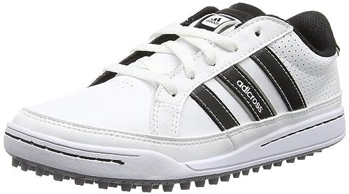 374a10b031f adidas 360 Traxion Unisex Kids  Golf Shoes White (White Core Black Silver