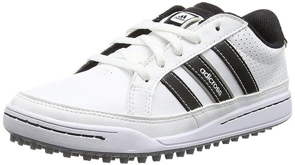 Adidas 360 traxion unisex scarpe da golf per bambini bianchi (white / cuore nero