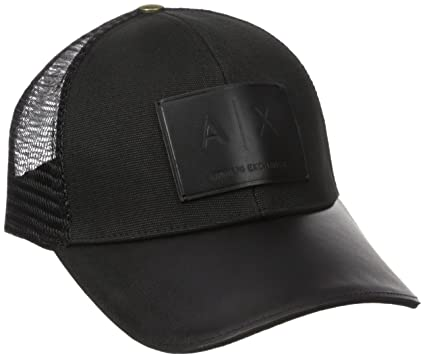 e314a522380 Amazon.com  Armani Exchange Men s Logo Patch Mesh Hat