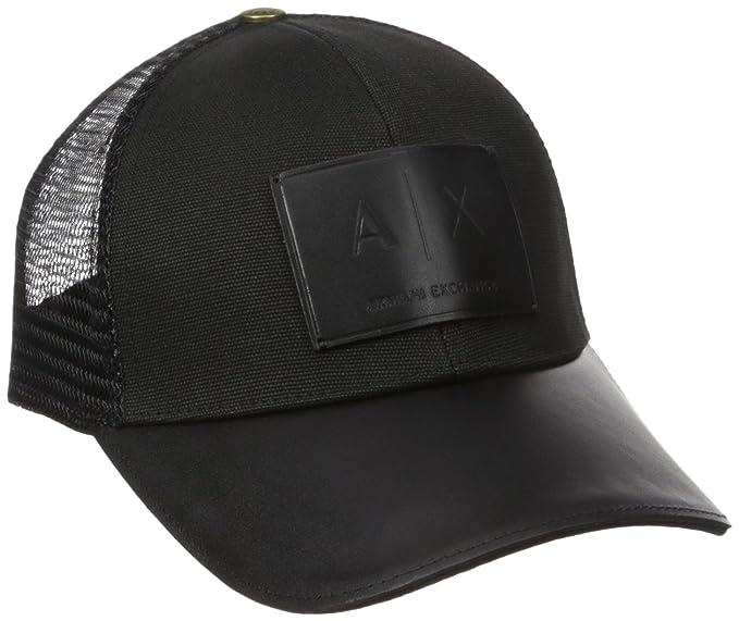 89e33ac1a59 Amazon.com  Armani Exchange Men s Logo Patch Mesh Hat