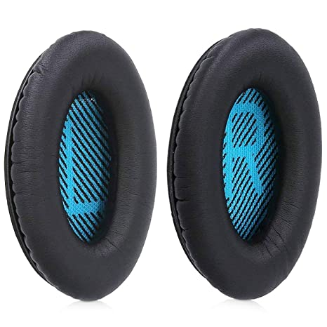 709a70e3ef9 Buy MMOBIEL Ear Pads Cushions Replacement for Bose Quiet Comfort Wireless  Headset AE2-W with Memory Foam Protein Leather (Black/Blue) Online at Low  Prices ...