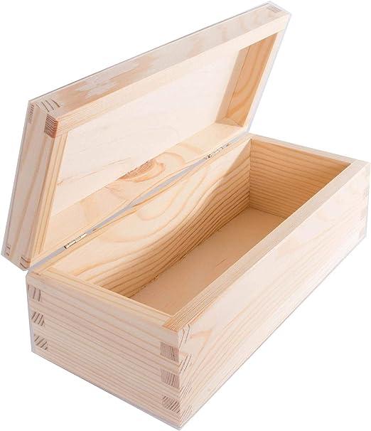 WooDeeDoo - Cajas rectangulares de pino, madera, natural, 23 x 10 ...