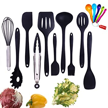 Silicone Kitchen Utensil Set, Evantek 10 Piece Kitchen Tool Set, Cooking  Utensils Set,