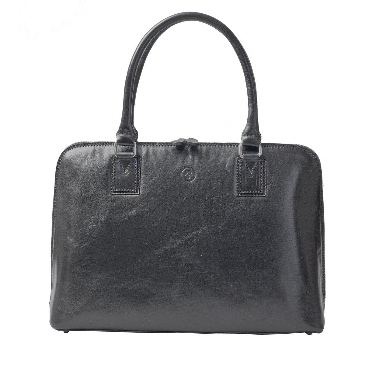 Maxwell Scott Luxury Ladies Black Leather Work Bag Purse for Macbook (Fiorella) by Maxwell Scott Bags (Image #1)