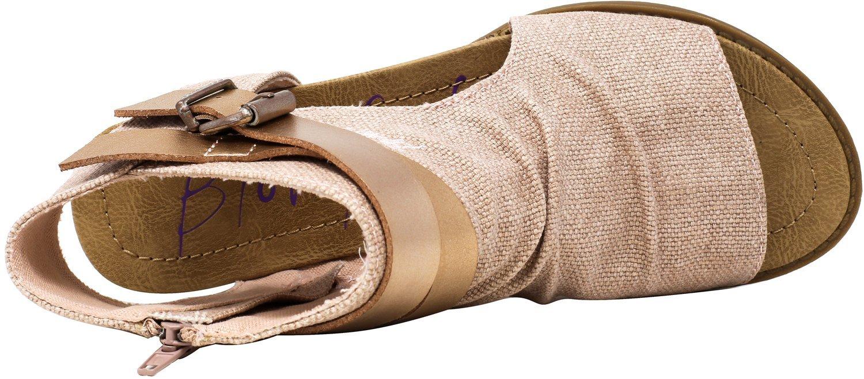 Blowfish Women's Balla Wedge Sandal B079M317TM 6 B(M) US|Rose Gold Rancher/Rose Gold Pisa Pu
