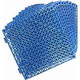 "12 Pack Modular Interlocking Cushion 11.5"" x 11.5"" Mat Floor Tile Mats Drain Pool Patio Balcony Yard Pet Area Washer Pad…"