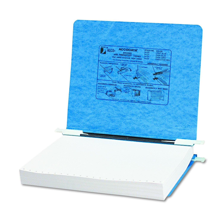 ACCO 5050554122 Presstex Two-Piece Hanging Data Binder, 11x8-1/2-Inch, 10-1/2-Inch Center, Blue A7054122