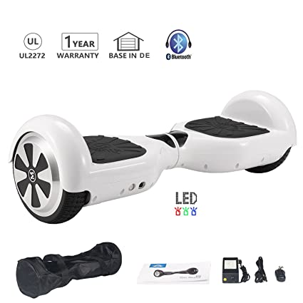 HoWay Patinete Electrico 6.5 Pulgadas 700W con Altavoz Bluetooth UL2272 Luces LED Scooter eléctrico
