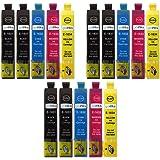 3 Go Inks Set di 4 Cartucce d'inchiostro + Nero per sostituire Epson T1636 + T1631 (16XL) Compatibile/ non originale per Stampanti Epson Workforce (15 Inchiostri)