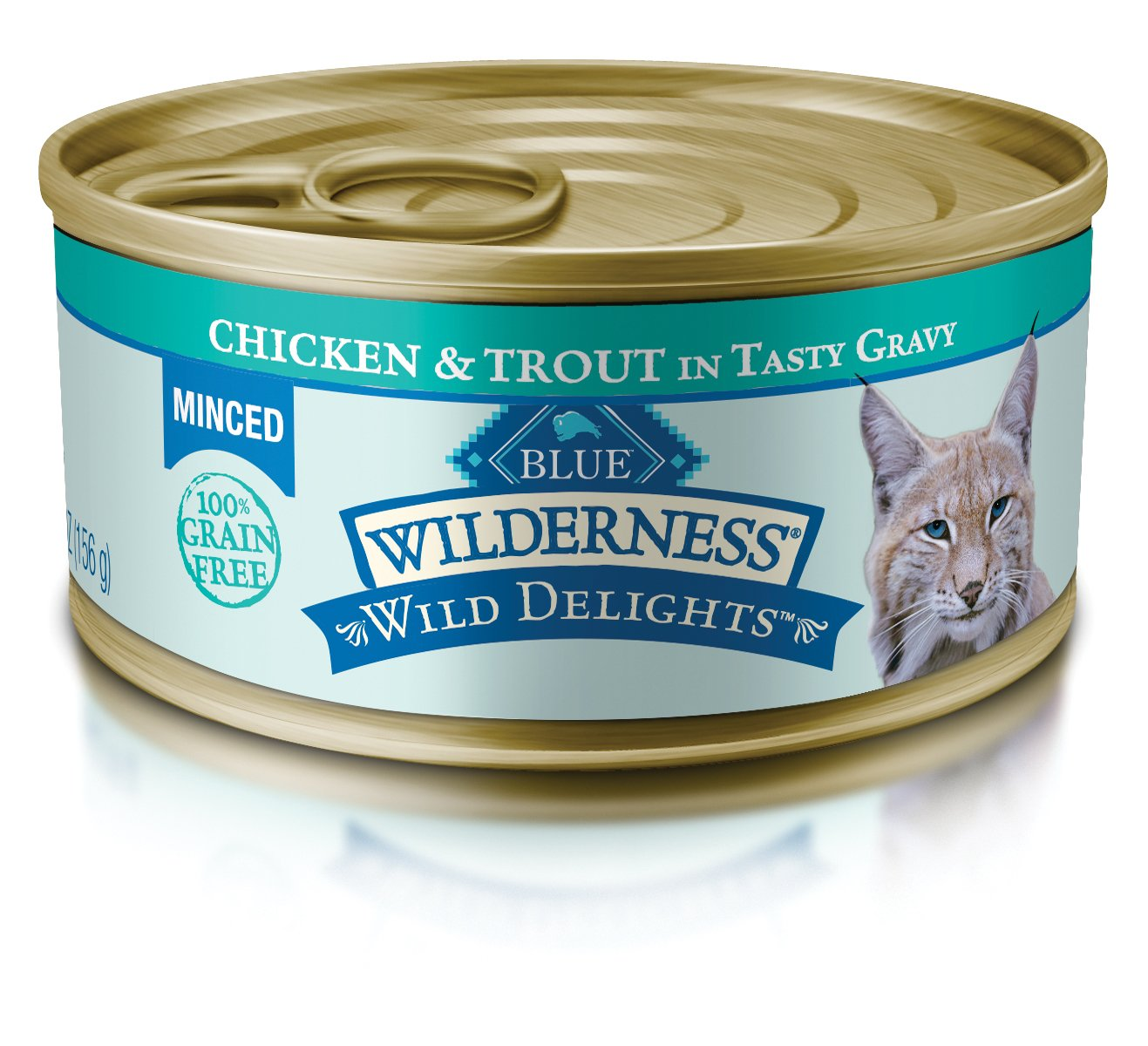 Blue Wilderness Wild Delights Adult Grain Free Minced Chicken & Trout In Tasty Gravy Wet Cat Food 5.5-Oz (Pack Of 24) by Blue Buffalo
