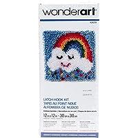 WonderArt - Juego de Ganchos para Cerrojo, Rainbow Sprinkles 12 X 12, Rainbow Sprinkles 12 x 12, 1