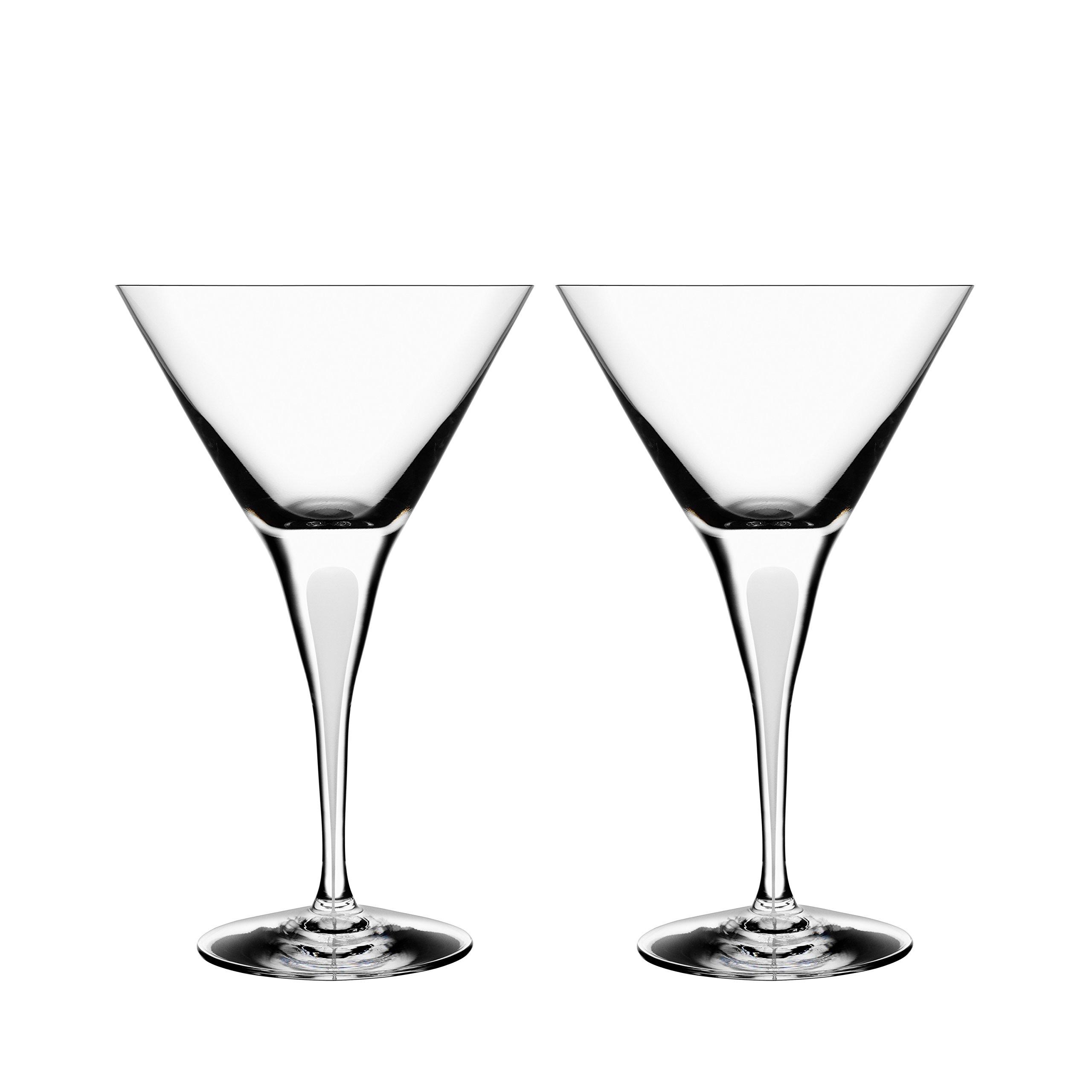 Orrefors Intermezzo Satin 7 Ounce Martini Glass, Set of 2