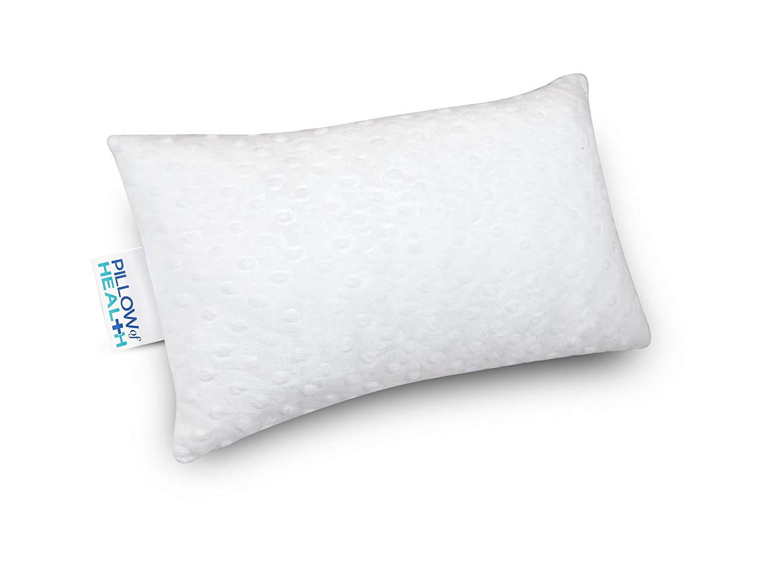 Pillow of Health Lumbar Pillow, 15 x 9 x 4 Inches, Ultrasoft Fleece Cover & Cooling Wickable Bottom, Hypoallergenic, Antimicrobial, Dust Mite Resistant, Certi-Pur Foam & OptiAir Fill The Pillow of Health