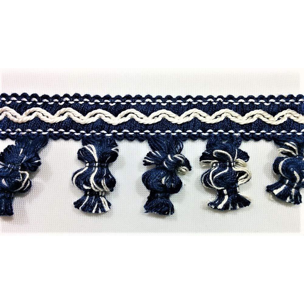 Blu TOMASELLI MERCERIA Passamaneria Copripunto Intrecciato Alto 1 cm