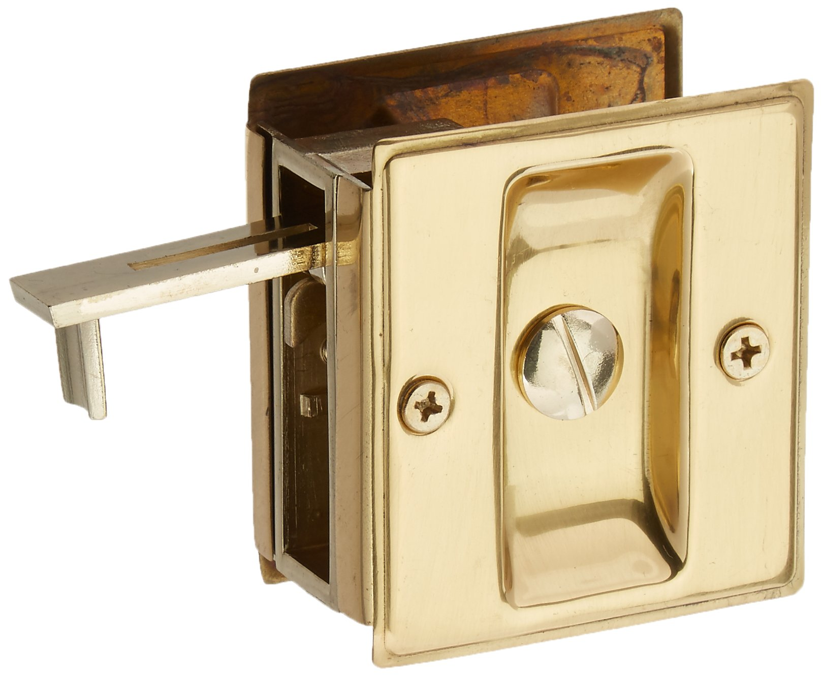 Deltana SDL25U3 2 1/2-Inch x 2 3/4-Inch Privacy Pocket Locks