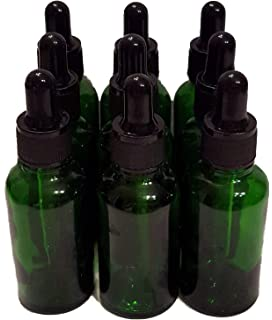BEKCo 11 Pack 15ml Thick Dark Green Glass (not Painted