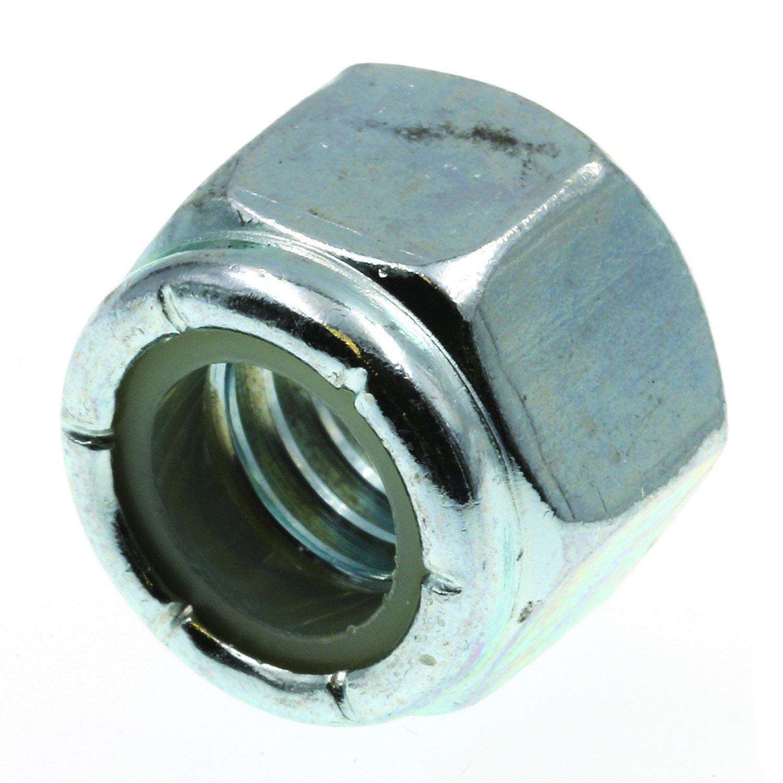 Prime-Line 9075351 Nylon Insert Lock Nuts, 3/8 in.-16, Grade 2 Zinc Plated Steel, 25-Pack