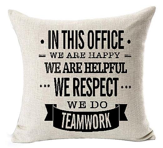 En Esta Oficina Respetamos útil Happy trabajo duro hacer el ...