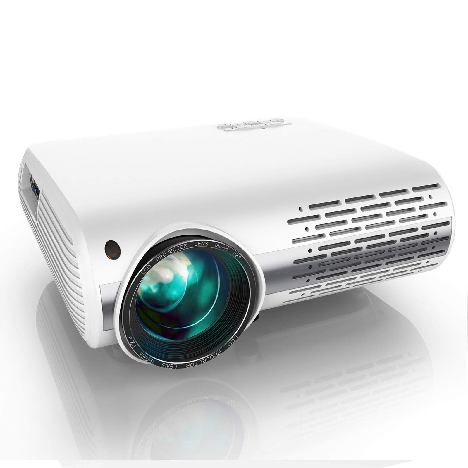 YABER Y30 Native 1080P Projector 8000L Full HD Video Projector 1920 x 1080, ±50° 4D Keystone Correction Support 4k & Zoom,LCD LED Home Theater Projector Compatible with Phone,PC,TV Box,PS4 (White)