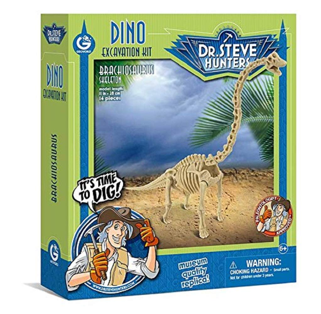 Dr Steve Hunters CL1665K Dino Excavation Kit Brachiosaurus Skeleton