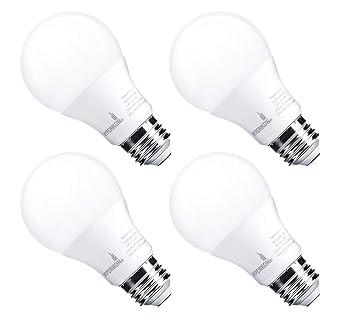 hyperikon A19 LED Bombilla Regulable, CRI 90 +, 9-watt (equivalente a