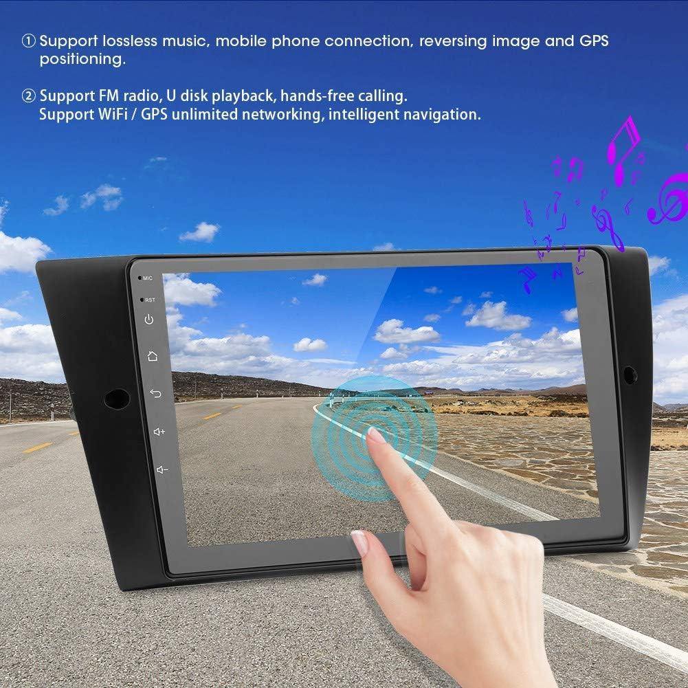 Qiilu 9in de navigation de voiture lecteur st/ér/éo dautoradio Bluetooth /à /écran tactile complet Navigation GPS pour Radio st/ér/éo Android adapt/ée pour E90 E91 E92