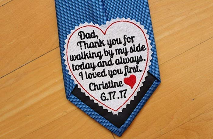Amazon Father Of The Bride Tie Patch Tie Label 3 Wide