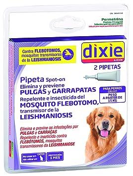 Dixie - Pipetas Permetrina Para Perro superior a 15kg. Leishmaniosis. (2 pipetas de 2 ml): Amazon.es: Deportes y aire libre