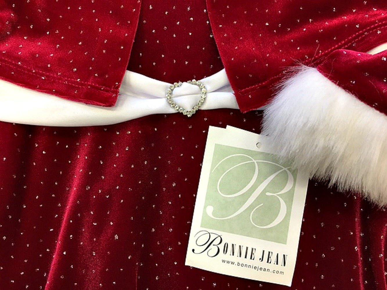 Bonnie Jean Girls Christmas Dress Velvet Sparkle Dress with Jacket