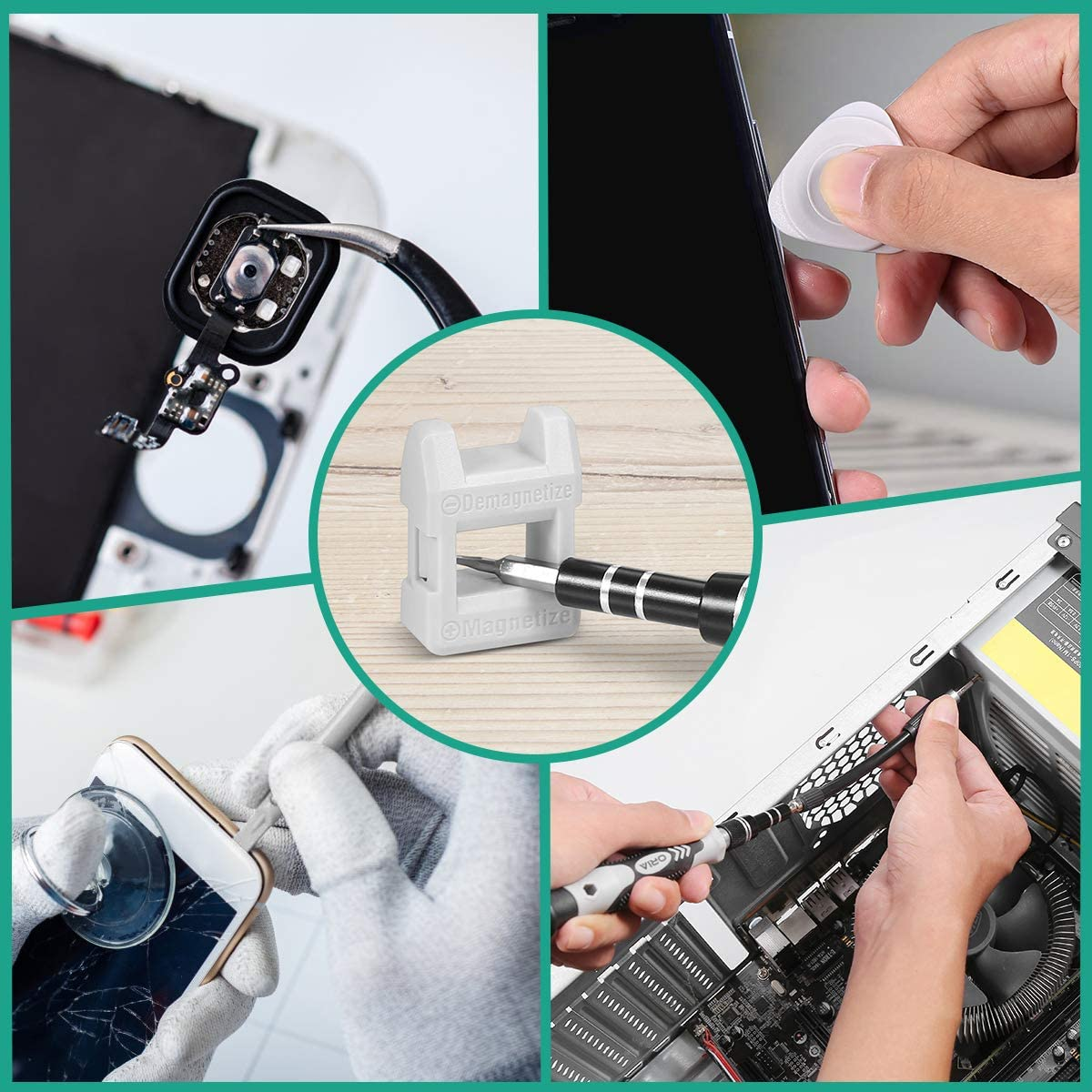 Precision Repair Tools Kit ORIA NEW Magnetic Screwdriver Set Perfect for iPhone iPad Laptops PC Watches Magnetizer A Gift for Friends etc. 52 in 1 Professional Driver Bit Kit with Flexible Shaft