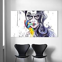XIAOXINYUAN Dimensioni Grandi Donne Arte Astratta Pittura Foto Tela Dipinto Ad Olio Per Il Soggiorno Di Parete Verticale Home Decor Poster