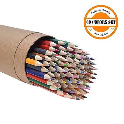 Cyper Top 80-color lápices de colores Set para adultos y niños/colores vibrantes