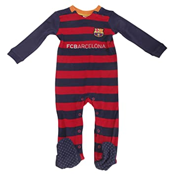 Barcelona FC (2015 16) Football Baby Romper Sleepsuit (Various Sizes to  choose from!) Ideal gift for any young fan! (12 - 18 Months)  Amazon.co.uk   Sports   ... 82a5ff92a