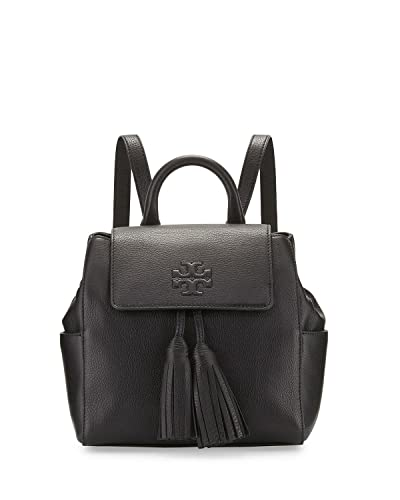 47de6a5e6ec Amazon.com  Tory Burch Thea Mini Backpack Black Leather Bag  Shoes