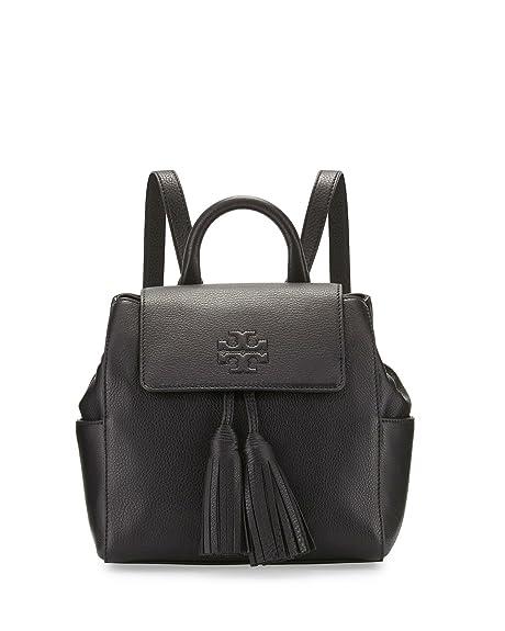f50787271f3 Tory Burch Thea Mini Backpack Black Leather Bag: Amazon.ca: Shoes ...