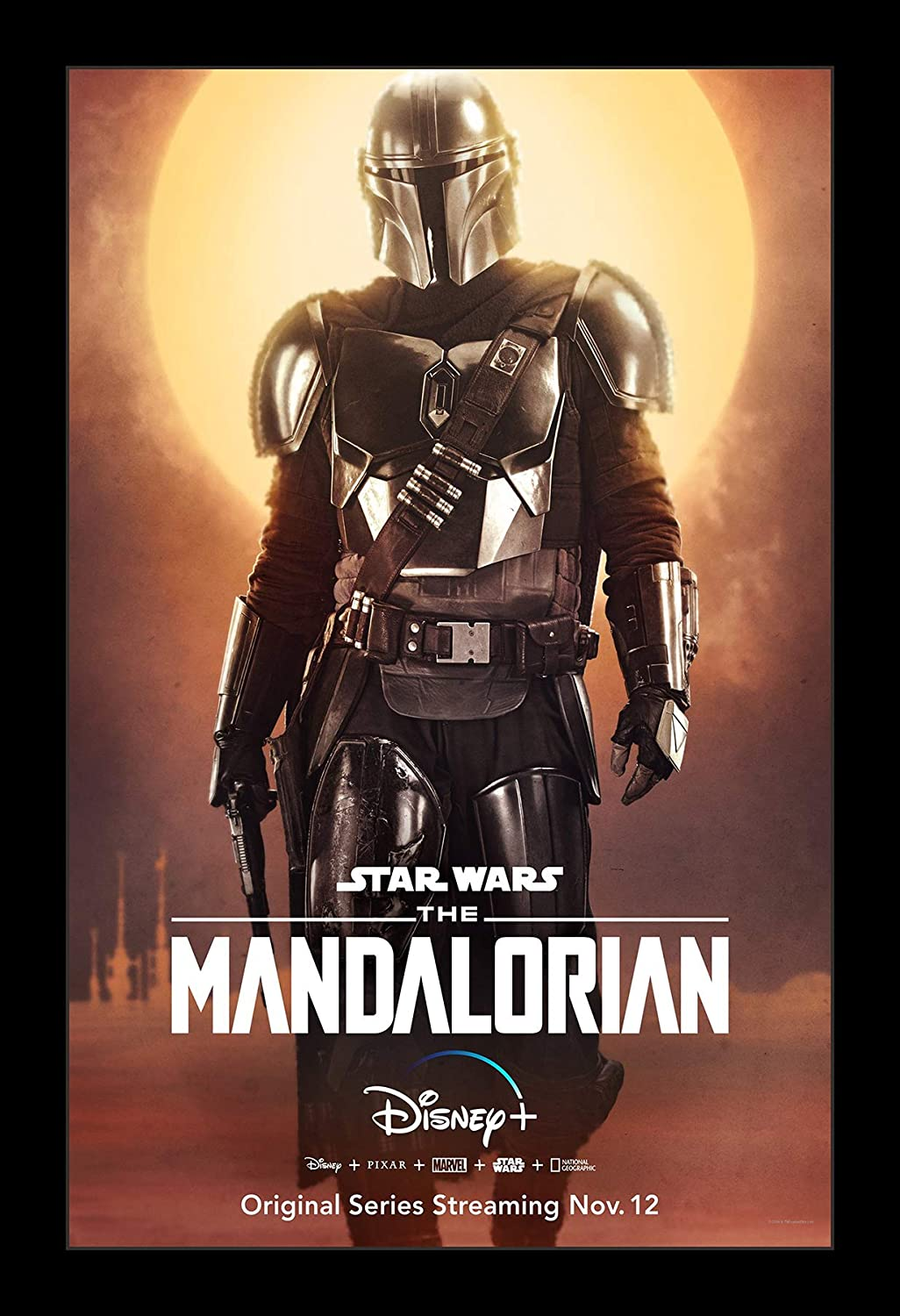 Amazon Com Wallspace 11x17 Framed Movie Poster Star Wars The Mandalorian Posters Prints