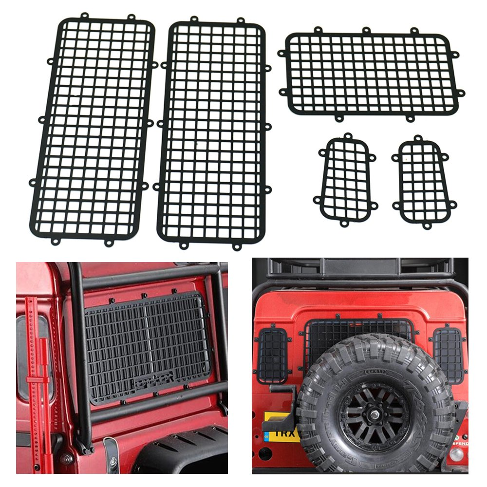 1/10 RC Metal Window Protective Mesh Net for 1/10 TRAXXAS TRX4 Land Rover Guard Rock Crawlers Benedict