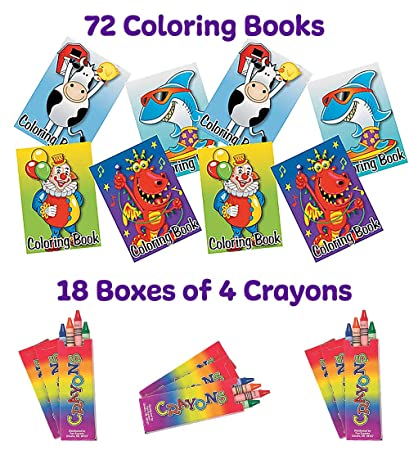 Amazon.com: MEGA Party Pack de 72 libros de colorear y 72 ...
