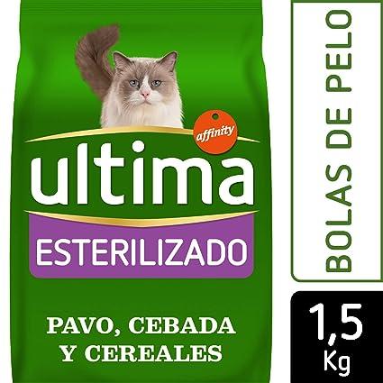 Ultima Pienso para Gatos Esterilizados Bolas de Pelo con ...
